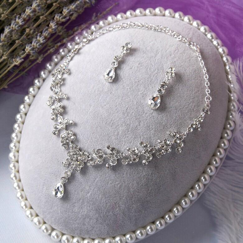 Fashion Crystal Rhineatone Bridal Earring Neacklace Accessoreis Bridal Wedding Bride Jewelry Accessories Party Decoration