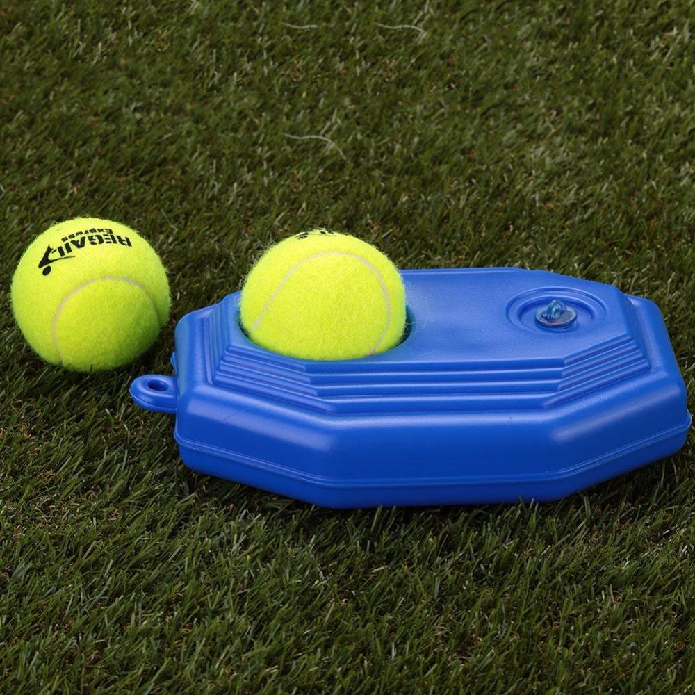 Wholesale- REGAIL Outdoor Rubber Tennis Training Machine and Pratice Tennis Ball Add Base for Tennis Beginners Trainers Accessories