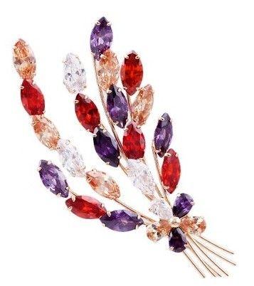 разноцветная мужская пшеница с бриллиантами; женская брошь (6,9 * 4 см) (myyhmz)