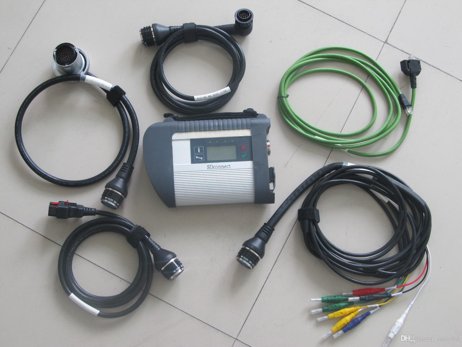 Teşhis Aracı MB Yıldız C4 SD HDD'siz Arabalar ve Kamyonlar için WiFi ile Bağlan