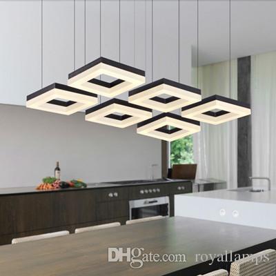 Led home lighting modern 4-6 pcs led Pendant Lights bar study room led strip lustre reading light meeting room office commercial lighting