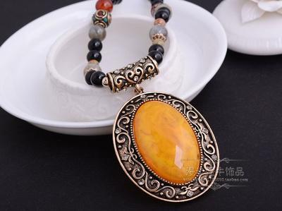 más colgante de placa de diamante de color (7,5 * 5,5 cm) collar de dama (56 + 6 cm adicionales) (woniu152)