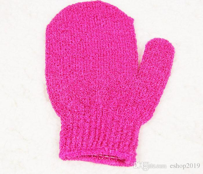 2016 new bathroom accessories factory price exfoliating bath glove five fingers bath gloves free shiipping - Magenta Bathroom 2016