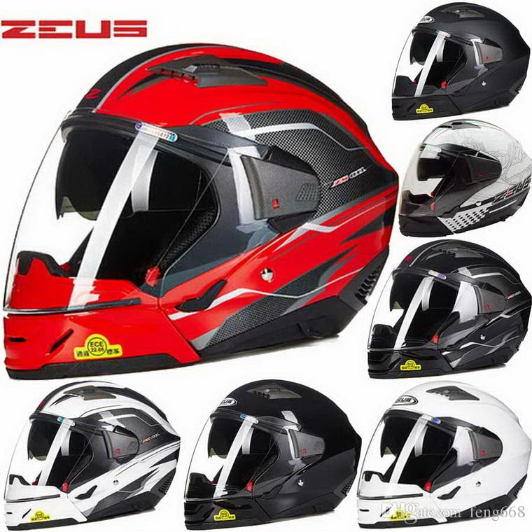 2016 New ZEUS double lens motorcycle helmet full face motorbike helmets four seasons multifunction helmets models ZS-611E