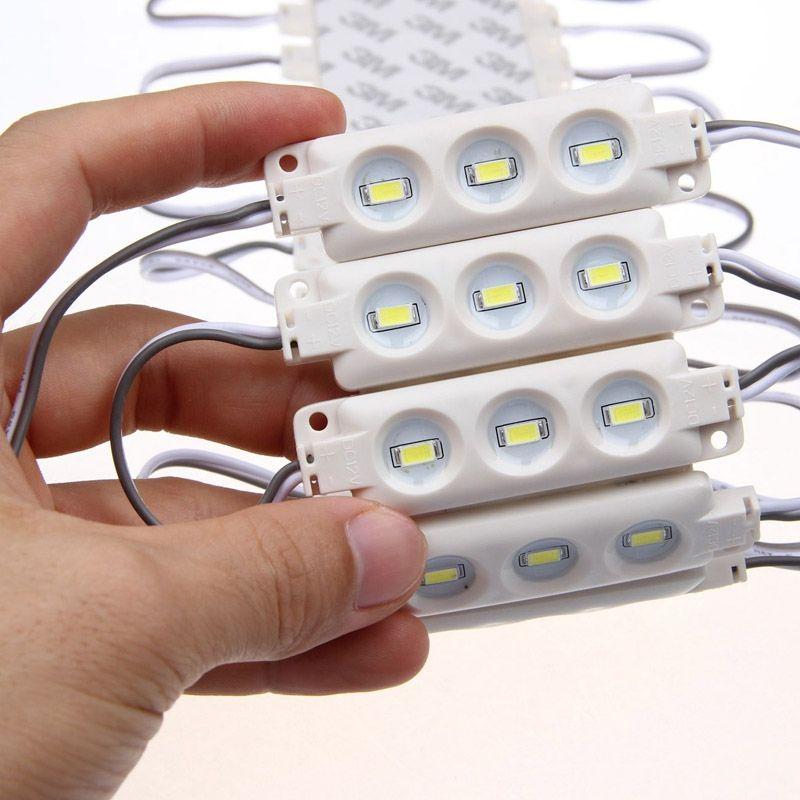 1.5 واط 3 المصابيح SMD 5730 أدى وحدة حقن ABS البلاستيك للماء IP66 أبيض دافئ أبيض أزرق أخضر الخلفية 12 فولت أدى ضوء 1000
