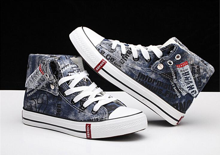 2015 Shoes High Model Jeans Sneakers