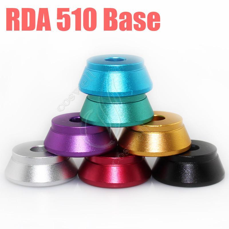 Clearomizer Display Base Atomizer Stand RDA 510 base Soporte de aluminio para 510 hilos Clearomizers aerotank mega mutation rda RBA