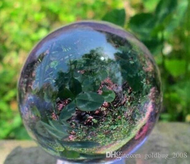 Asian Rare Natural 40mm Quartz Purple Magic Crystal Healing Ball Sphere+StandO.3