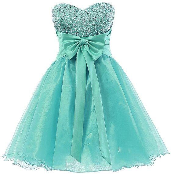 Бирюзовый бисером Homecoming платья милая линия назад корсет высокое качество органзы короткое платье мини коктейль платье партии