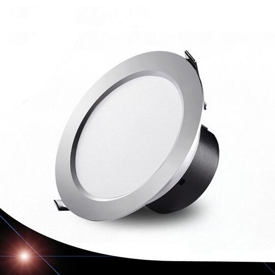 Super brillante Ulra-fino sombrero de paja integración led downlight 3-18w AC85-265V SMD5730 LED Spot luz led lámpara de techo hotel restarent luz