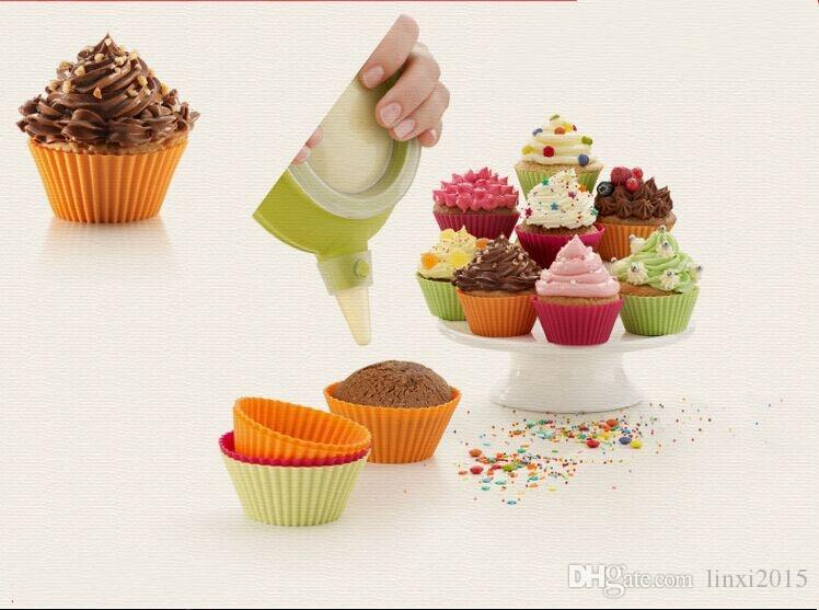 "New 7.9/"" SZ Large Heart Shape Silicone Cupcake Top Cupcake Bake Baking Mold"