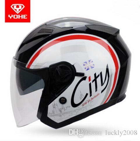 Eternal YOHE half face Motorcycle helmet YH-868 ABS Motorbike helmet Double lens electric bicycle helmets for four seasons