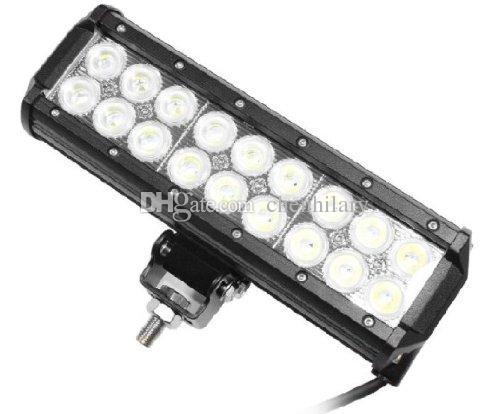 9 pollici 54W 18pcs * 3W LED Cree Light Bar 4x4 Fuoristrada di inondazione del punto lampade 12V 24V 4WD SUV Jeep Trattore stradale Driving Light Work Bar