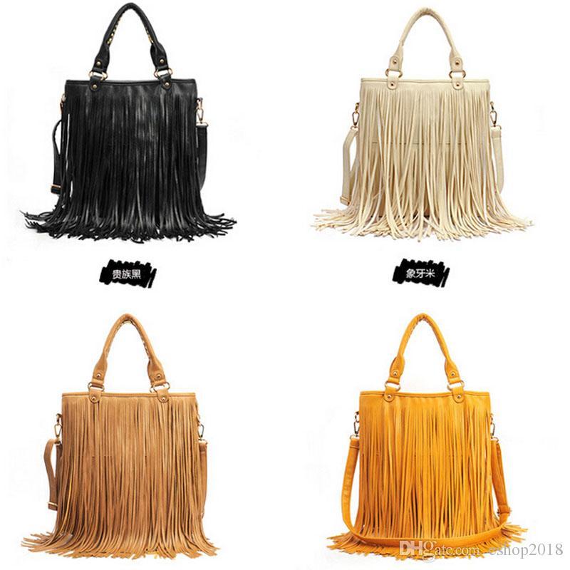 a1798bd86085 2015 new Shoulder Bags Womens Tassle Tassel Fringe Faux Suede Shoulder Messenger  Crossbody Bag Handbag ...