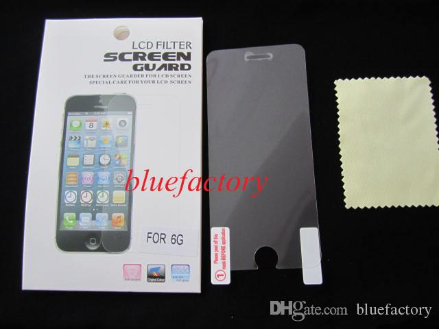 Matte High Clear Protector Screen Guard Film with retail package Front Skin For iphone 6 4.7 '' 5.5 inch