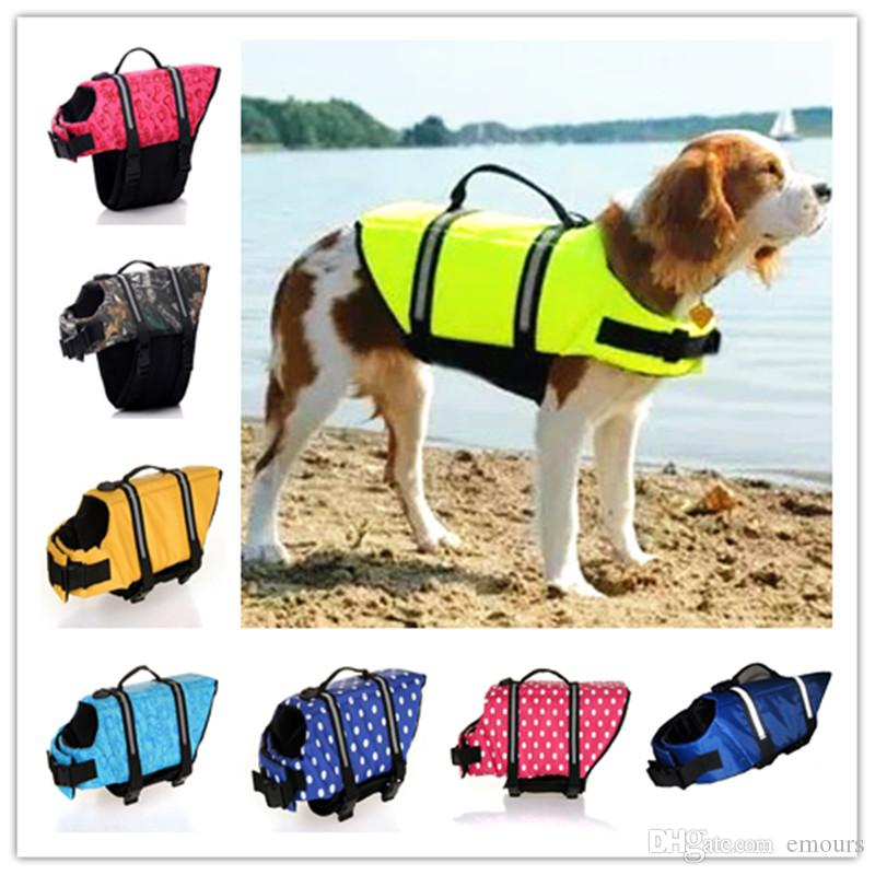 Pet Dog Doggy Life Kurtka Life Kamizelka Preserver Refleksyjna Kości Polka Koszulkowy wzór NYLON NEOPRENE OGÓLNY OGÓLNY Służenie bezpieczeństwa wodne