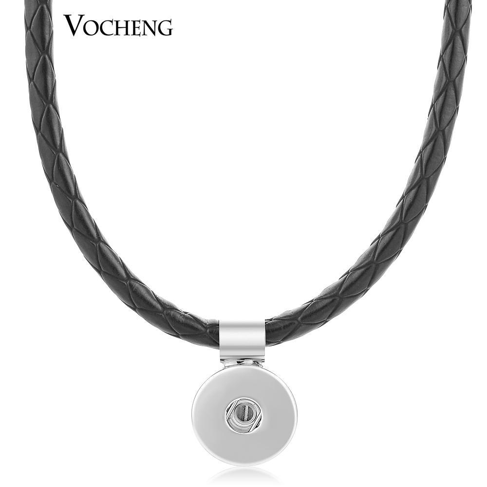 Noosa Naszyjnik Ginger Snap Jewelry Kolorowe 6 kolorów Woven PU Skórzany Wisiorek NN-045
