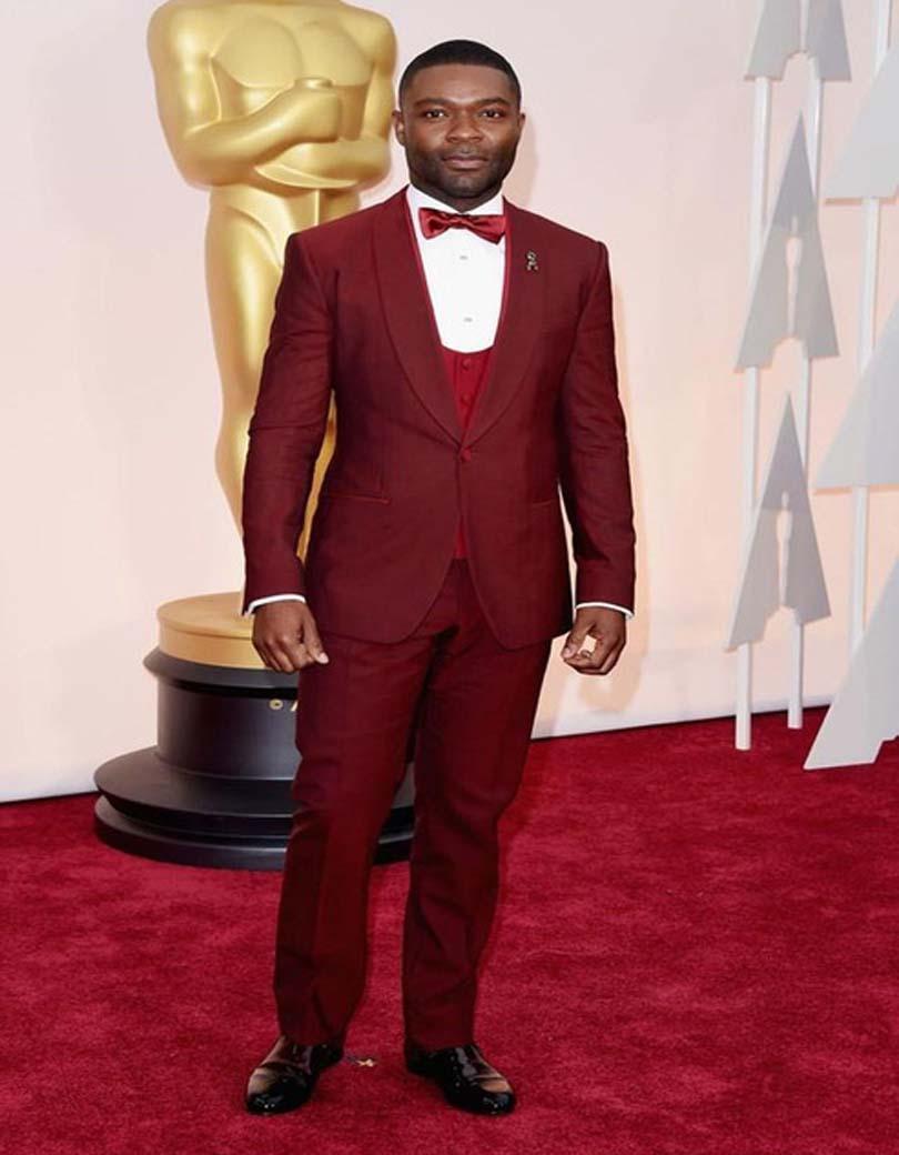 Oscar Cheap Groom Tuxedos 2016 Burgundy Best Man Suit Formal Evening Wedding Suits For Man 's Clothes(Jacket+Pants+Tie+Vest)