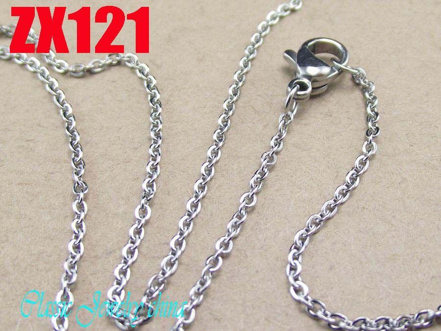 Chaîne en forme de O de collier en acier inoxydable de haute qualité de 1,5 mm avec la promotion de la chaîne de chandail de dame des femmes promotion 10pcs ZX121