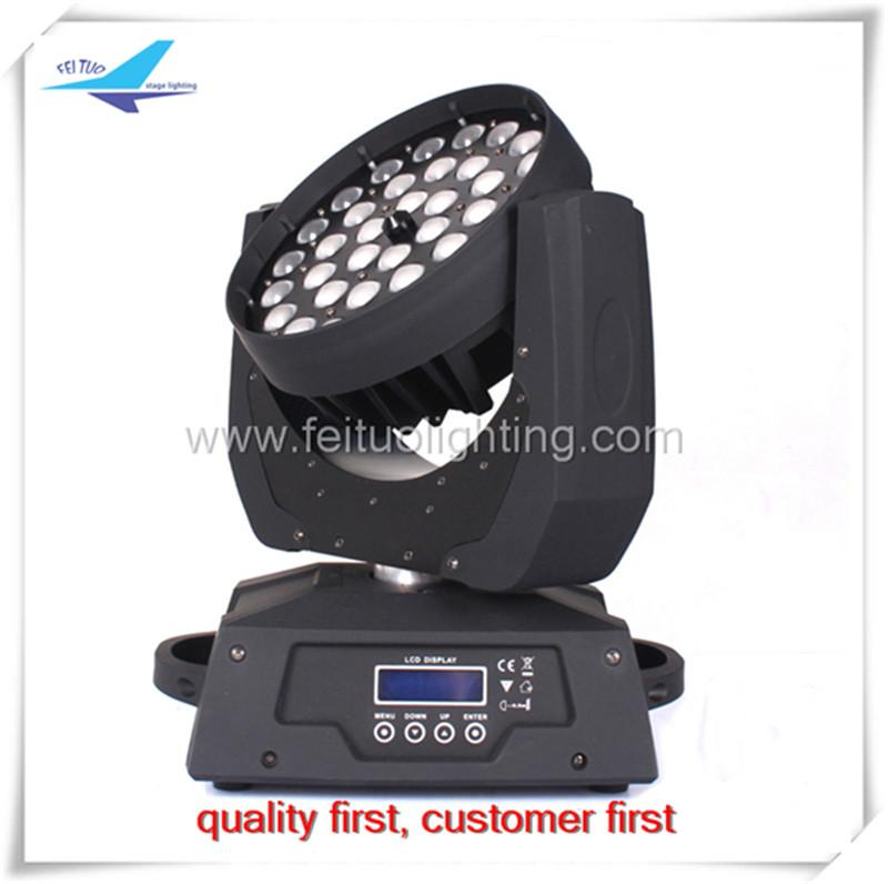 36x18W RGBAW UV LED 이동 헤드 줌 / 이동 헤드 줌 빛