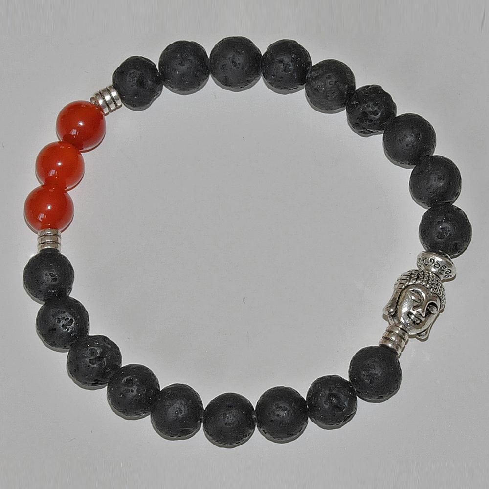SN0229 Hot venda raiz chakra homens pulseira Lava rocha Carnelian pulseira Buddha budista oração mala beads pulseira frete grátis