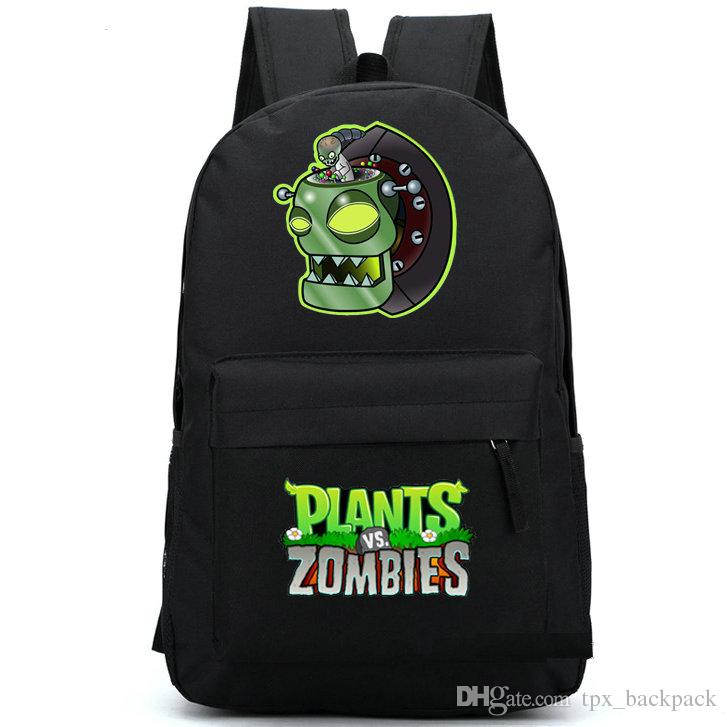 Dr zomboss backpack Plants vs zombies boss day pack لعبة pvz حقيبة مدرسية وترفيه packsack الجودة حقيبة الظهر الرياضة المدرسية في الهواء الطلق daypack