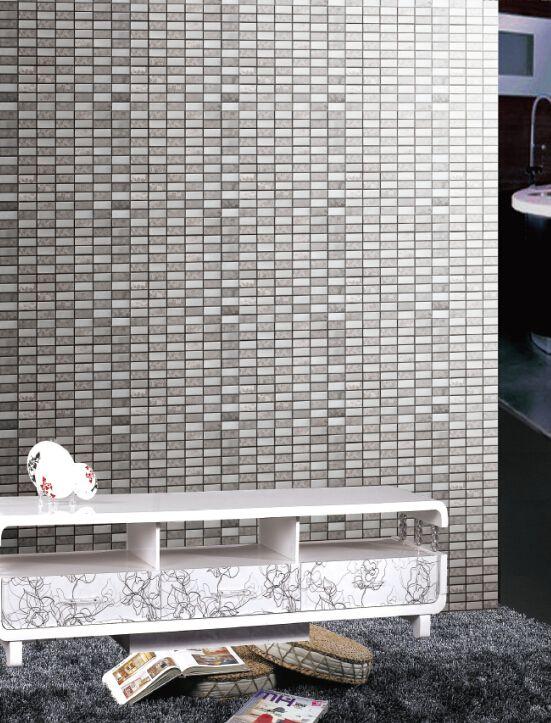 Telha de mosaico de aço inoxidável cinza mosaico de azulejos decoração da casa moderna Telhas de revestimento mosaico telha textura mosaico atacado