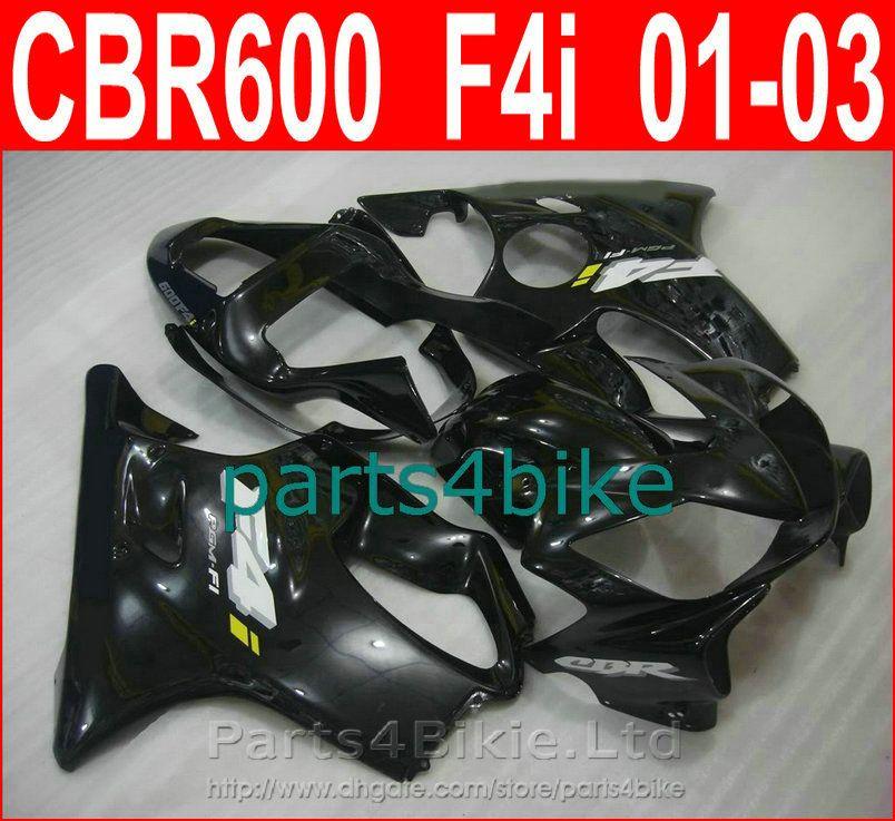 Carrocería negra mate para el carenado Honda CBR600 F4i 2001 2002 2003 Carenas CBR F4i cbr600f4i FCYJ