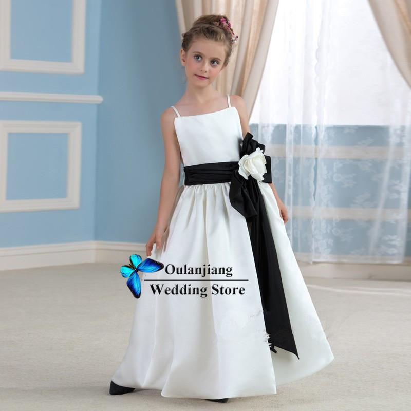 2015 Cute Two Tone A Line Flower Girl Dresses With Square Neckline ...