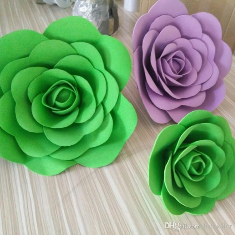 Espuma grande Flor color de rosa Para Bodas Fondo de escenario Puerta Decorativa Flor Suministros de decoración para fiestas 42 colores