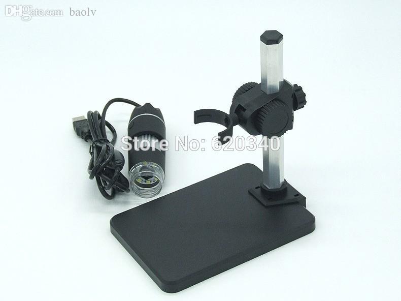 도매 무료 배송 1000x USB 디지털 현미경 + 홀더 (신제품), 8-LED 내시경과 측정 소프트웨어 usb 현미경 + 족집게