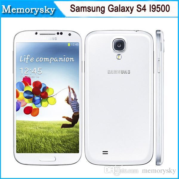 Samsung Galaxy S4 I9500 Unlocked 13MP Camera 5.0 inch 2GB+16GB Android 4.2 Quad Core Smartphone NFC 3G WCDMA & GSM Refurbished phones 002864