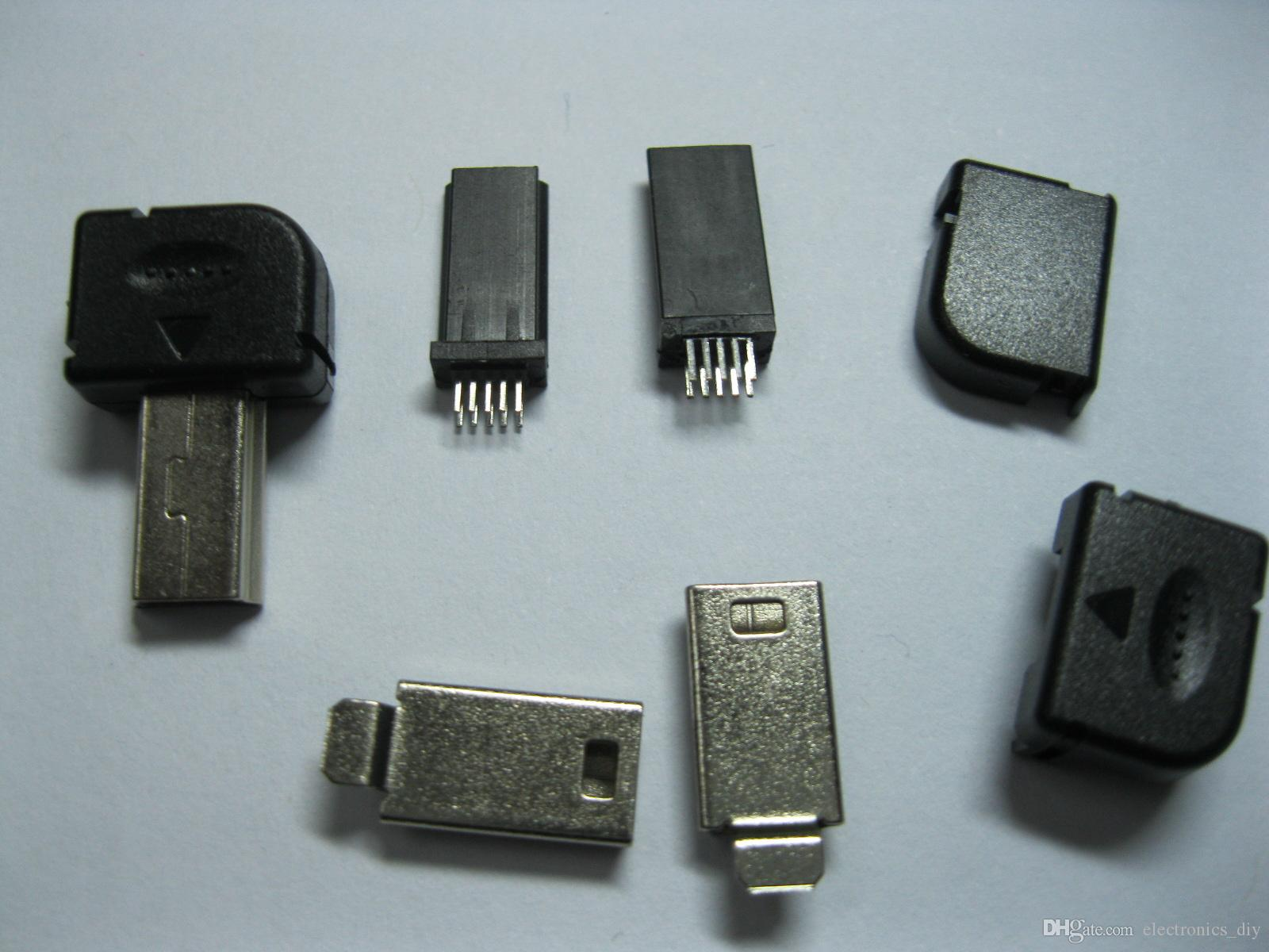 Mini 10 Pin USB Male Plug For Philips Right Angle 300 pcs per lot hot sale