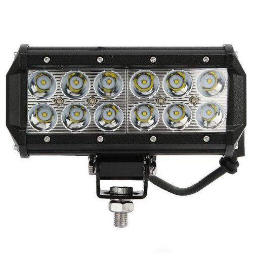 """슈퍼 밝은 7 """"36W 크리 어 LED 작업 표시 줄 램프 12v / 24v 트럭 SUV ATV 스포트 홍수 작업 조명 오토바이 트랙터 보트"""