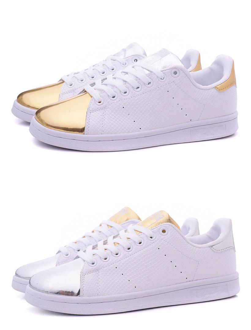 adidas stan smith gold e silver