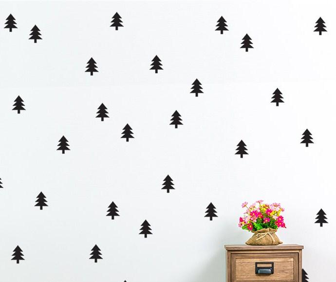 Vinyl Decals Christmas Tree Patterned Kids Bedroom Home Decor Wall Stickers Set Pattern Art Design MC001