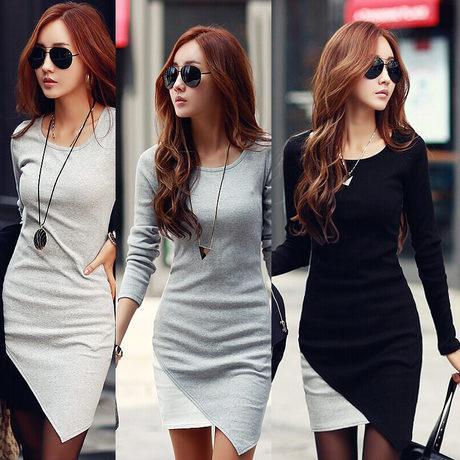 Nowe Kobiety Sukienka 2014 Jesień Zimowe Suknie Plus Rozmiar Elegancki Z Długim Rękawem Patchwork Fold Bodycon Hip Casual Lady Work Wear