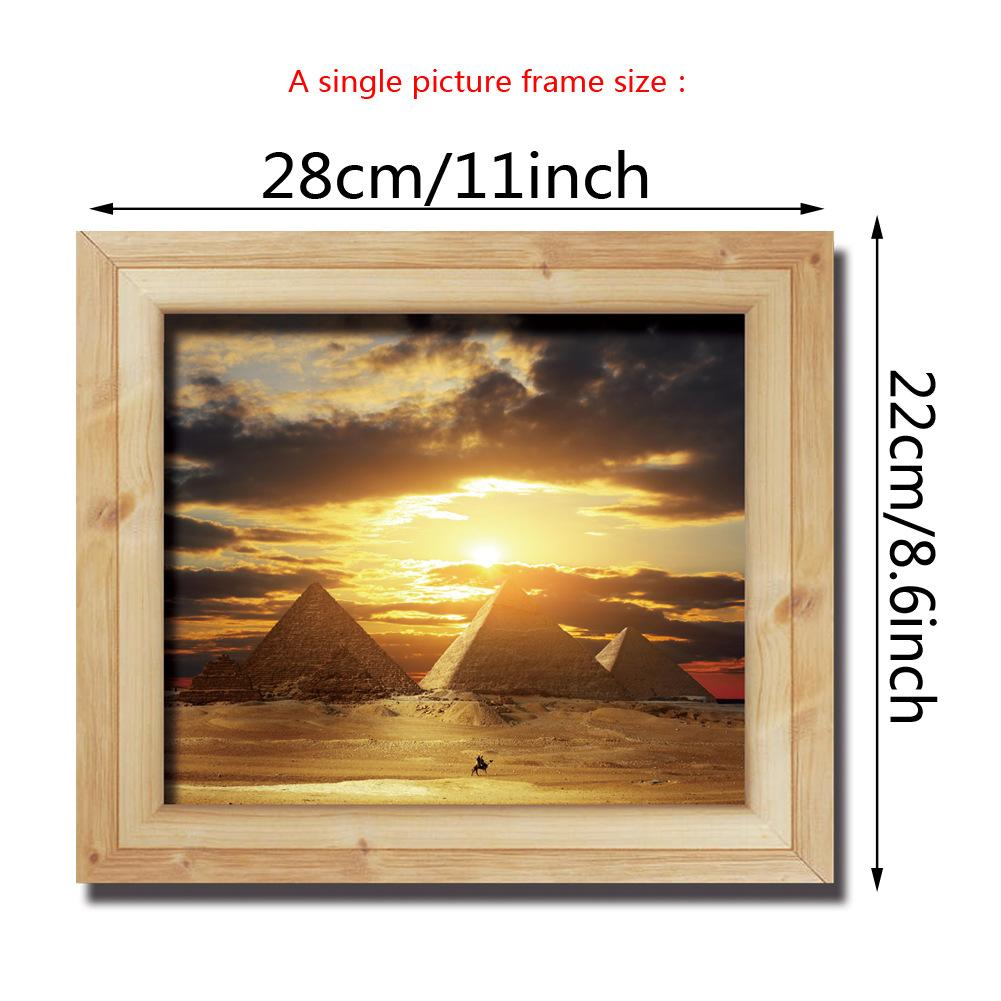 3d Photo Frame Scenery Wall Stickers For Kids Room Diy Home ...