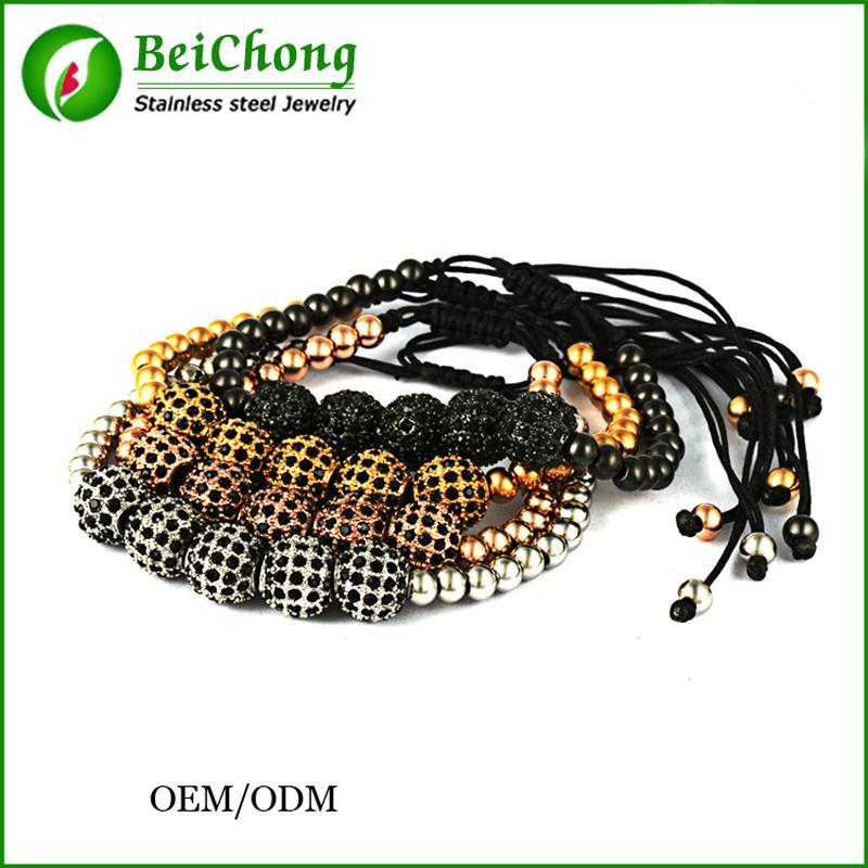 BC Anıl Arjandas Örgü Makrome Marka Moda Charm Bilezikler 18 K Altın Mikro Açacağı CZ boncuk Erkekler Kadınlar Için Klasik Bilezikler BC-225
