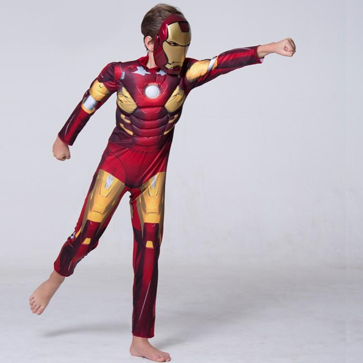 ... NEW Iron Man 3 Iron Patriot Muscle Child Superhero Halloween Costume Kids Fantasy fancy dress Carnival ... & 2018 New Iron Man 3 Iron Patriot Muscle Child Superhero Halloween ...