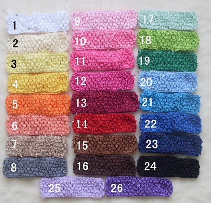 Crochet banda elástica para el cabello para niña accesorios para el cabello del bebé Scrunchie suave 4 cm diadema Ponytail titulares Hairband Headwear FD6502