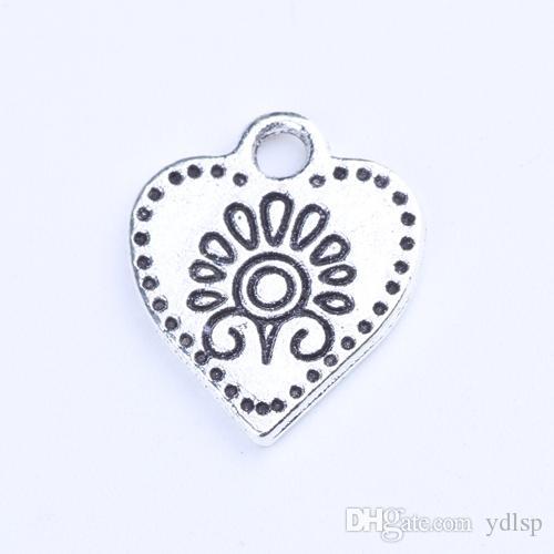 Venda quente Retro Prata / Bronze amor pingente Fabricação DIY jóias pingente fit Colar ou Pulseiras charme 100 pçs / lote 1299