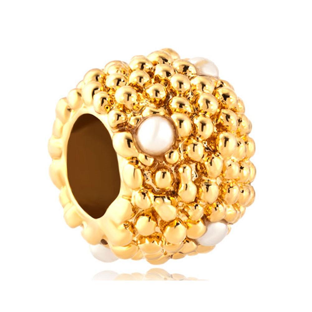 MYD Jewelry Factory vendita diretta color oro placcatura pavimentata con perle di perline braccialetto di fascino europeo adatto Pandora
