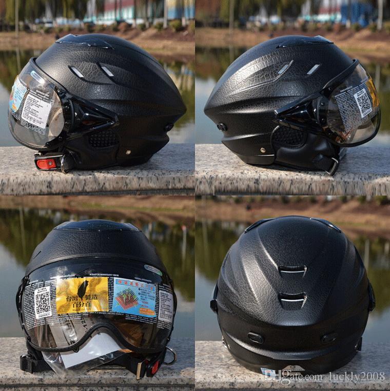 2016 새로운 ZEUS 125B 여름 반 얼굴 오토바이 헬멧 ABS 오토바이 헬멧 전기 자전거 헬멧 UV 개인화