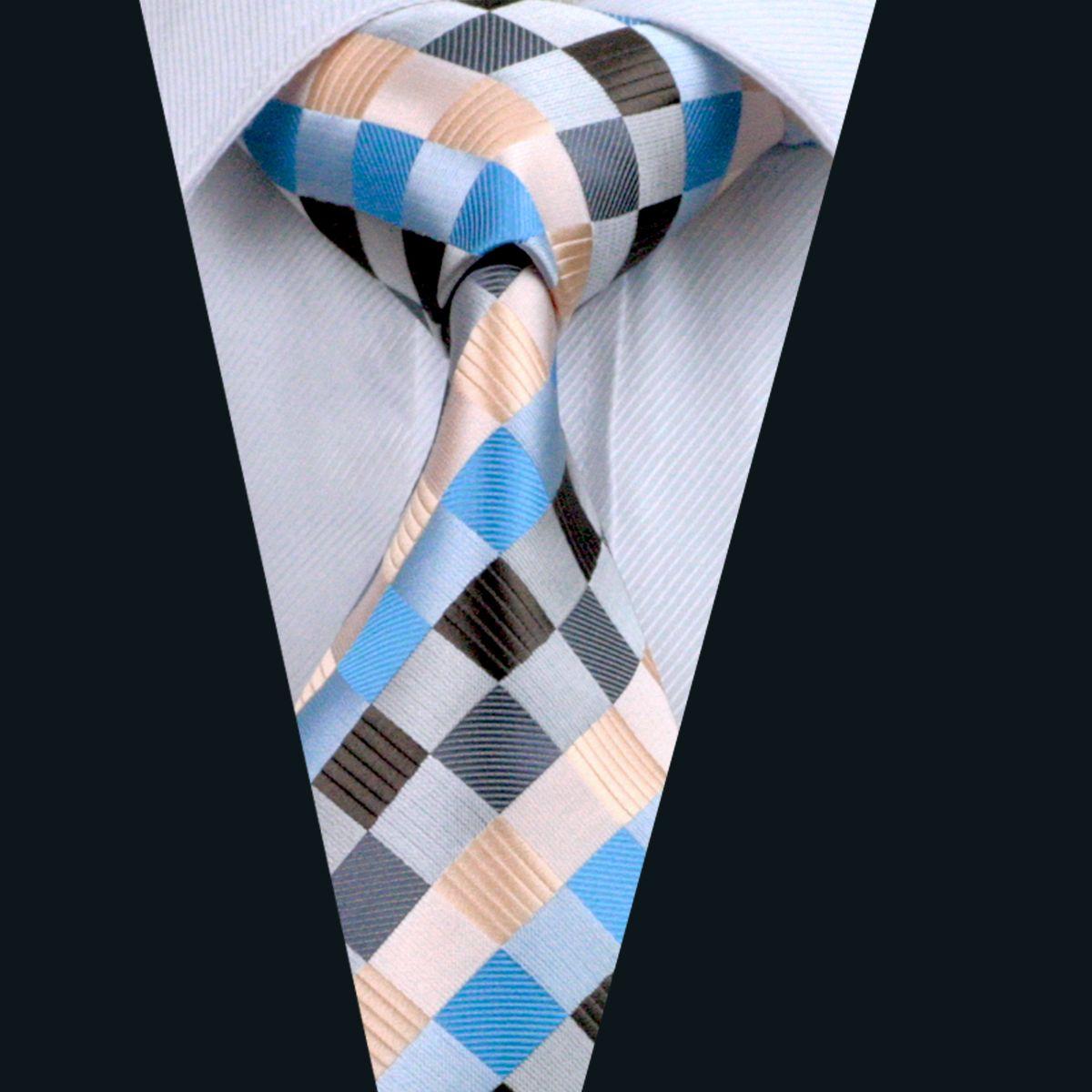 مزيج اللون منقوشة نمط البدلة ربطة العنق للرجال 8.5CM العرض جاكار نسج عارضة الأعمال العمل الرسمي التعادل D-0275