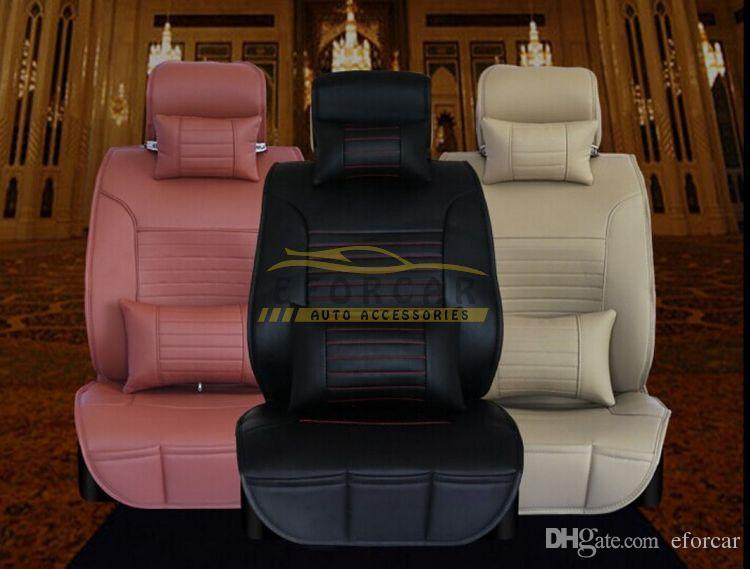 Nueva venta caliente de la PU CUERO DE CUCHO DE CUCHO CUBIERTO DE CUCHO Universal Cojín de asiento de automóvil 3 Color Envío gratis