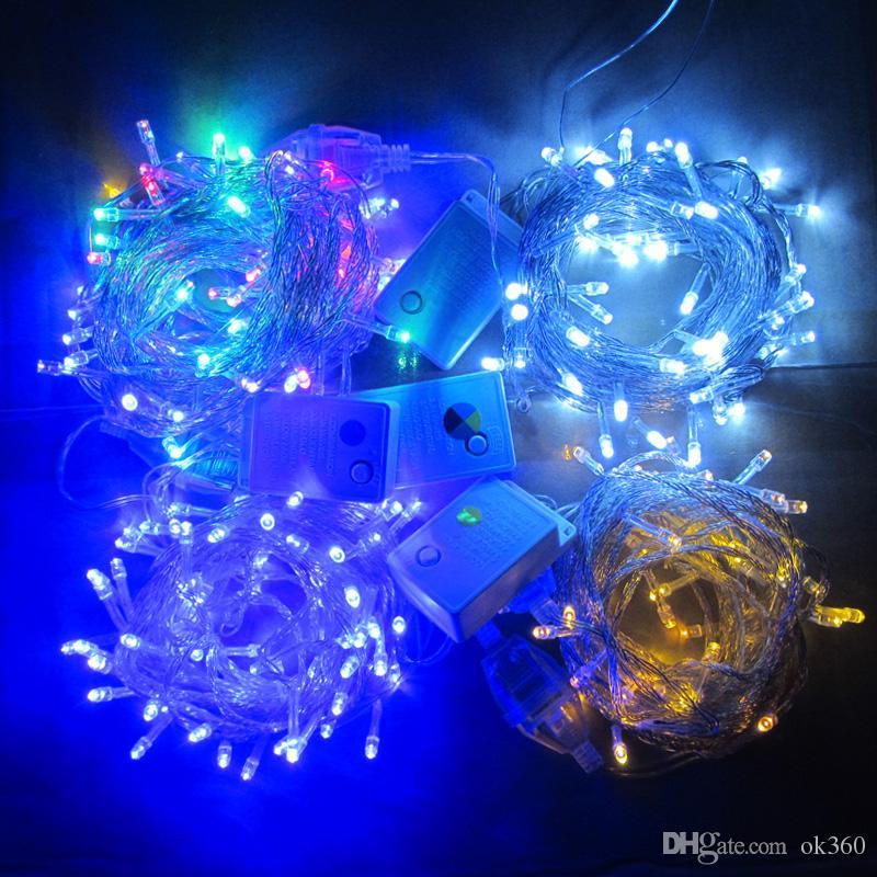 20M / 30M / 50M / 100M 600 LED Cadena Luces de hadas Guirnalda colorida Árbol de Navidad Luz de centelleo Home Garden Party HolidayP arty Wedding Deoration