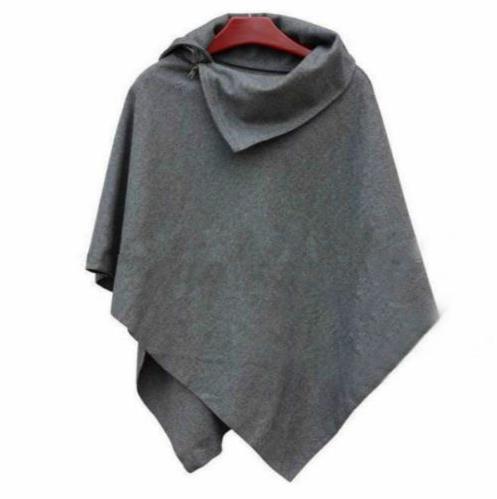 Cappotto invernale da donna in maglione oversize con maniche lunghe in lana da donna