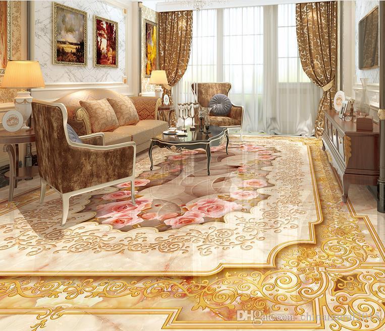 Vinyl Flooring Adhesives Luxury British Style Marble Parquet
