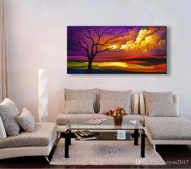 handmade oil painting on canvas modern 100% Best Art Landscape oil painting original directly from artis c03